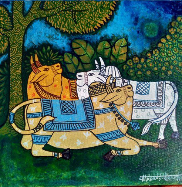 Handmade art & craft, art of India, acrylic & canvas paintings