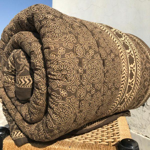 Handmade art & craft, craft of India, craft of Rajasthan, blockprinted cotton quilt