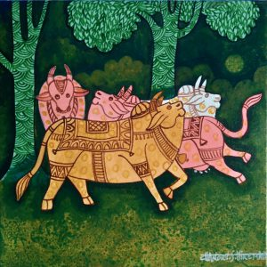 Handmade art & craft, art of India, Canvas and acrylic